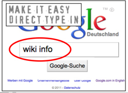wiki info direkt type in zu wikipedia